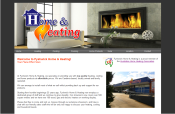 Fyshwick Home & Heating Website